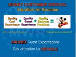 disney customer service equation for success