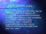 expectations vary5