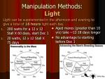 manipulation methods light