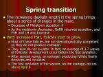 spring transition