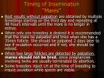timing of insemination mares