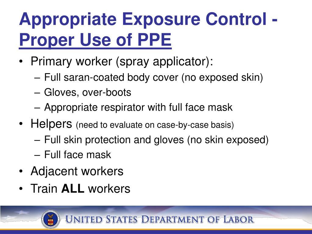 Appropriate Exposure Control -