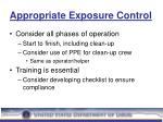 appropriate exposure control28