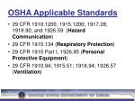 osha applicable standards15