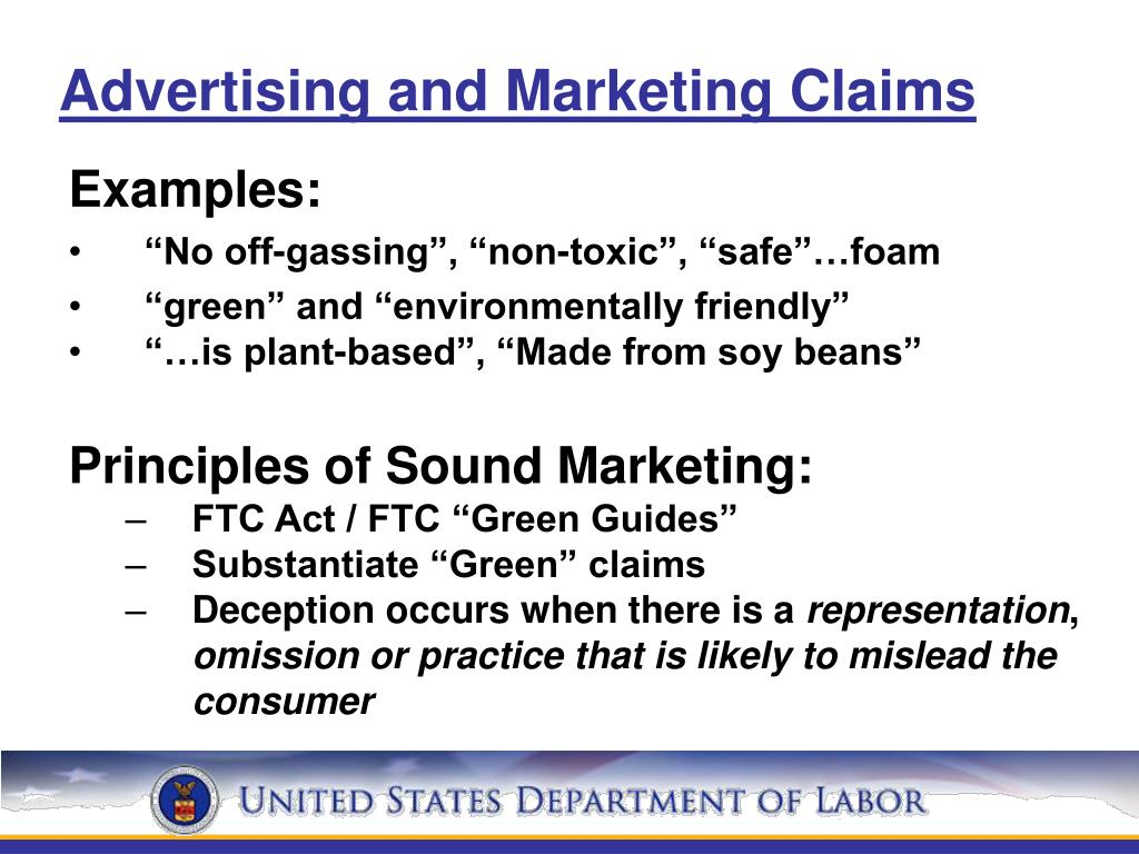 Advertising and Marketing Claims