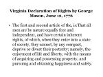 virginia declaration of rights by george mason june 12 1776