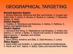 geographical targeting