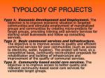 t ypology of projects