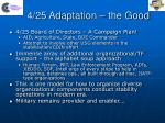 4 25 adaptation the good