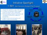 initiative spotlight 1 501 sub governor budget pilot program