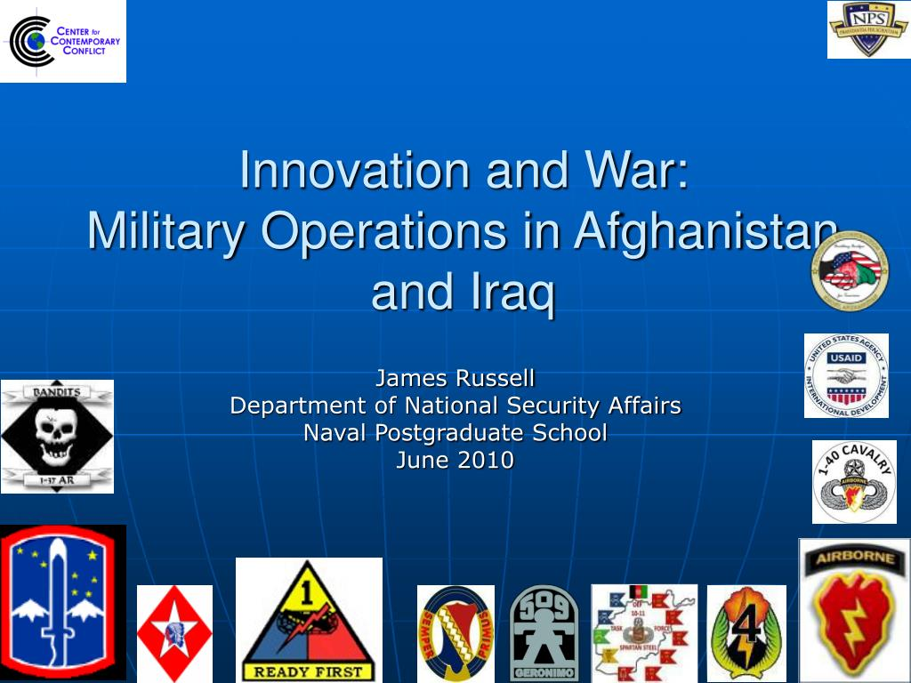 innovation and war military operations in afghanistan and iraq l.