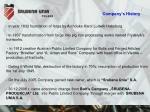 company s history