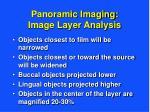 panoramic imaging image layer analysis