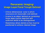 panoramic imaging image layer focal trough defined