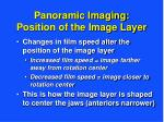 panoramic imaging position of the image layer