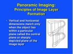 panoramic imaging principles of image layer formation18