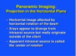 panoramic imaging projection in the horizontal plane