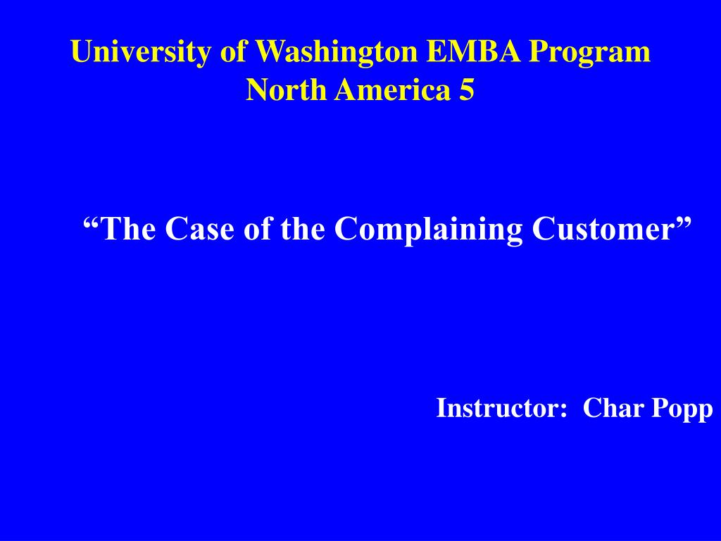 university of washington emba program north america 5 l.