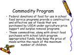 commodity program