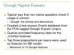 google ngram features