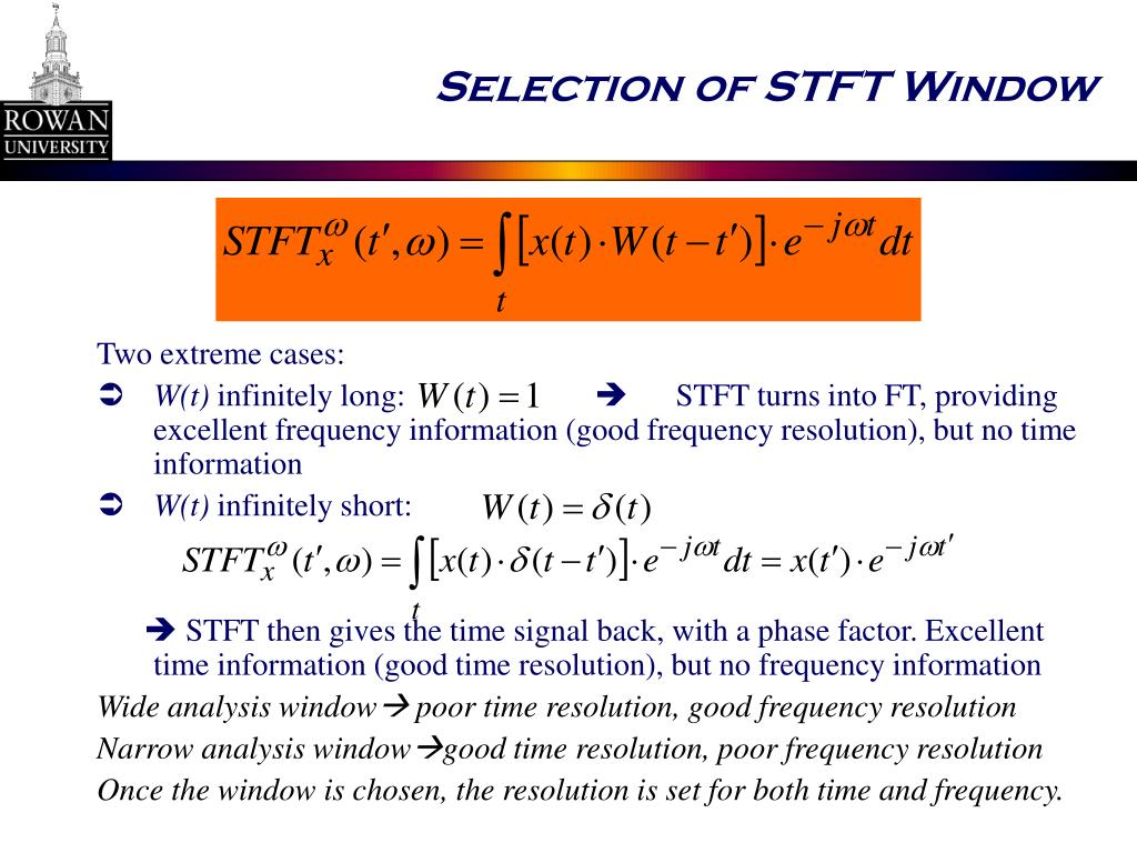 Selection of STFT Window