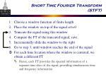 short time fourier transform stft