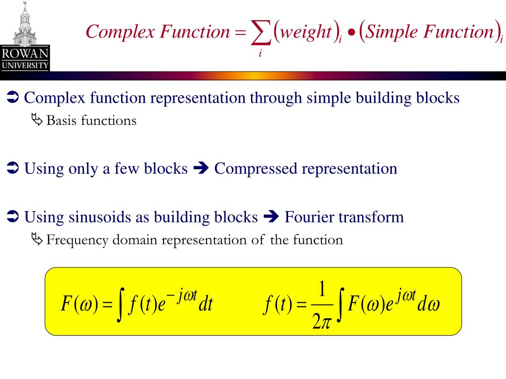 Complex function representation through simple building blocks