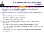 stationary and non stationary signals