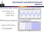 stationary and non stationary signals13