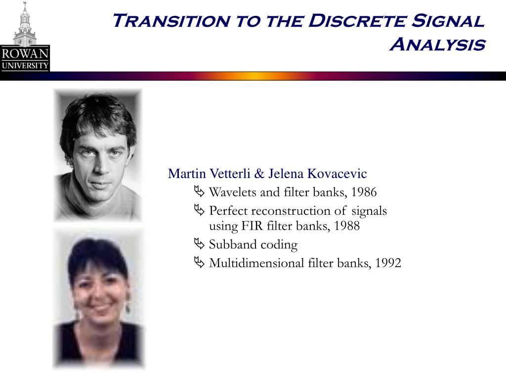 Transition to the Discrete Signal Analysis