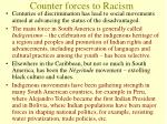 counter forces to racism