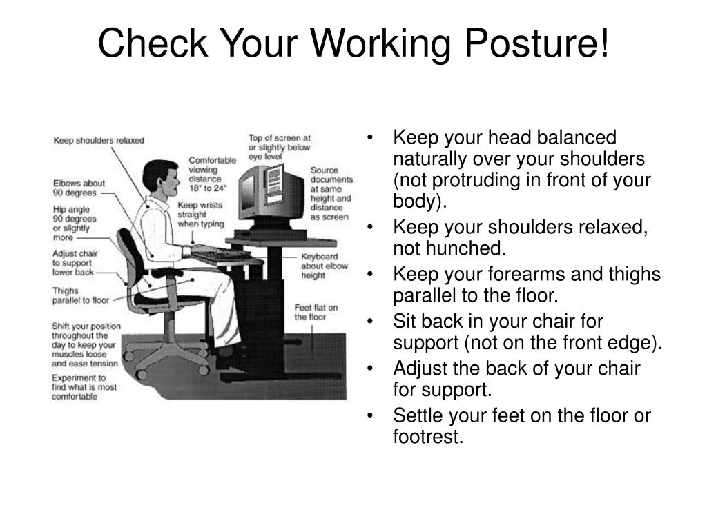 Check Your Working Posture!