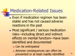 medication related issues49
