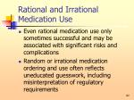 rational and irrational medication use