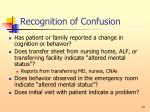 recognition of confusion