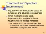 treatment and symptom improvement