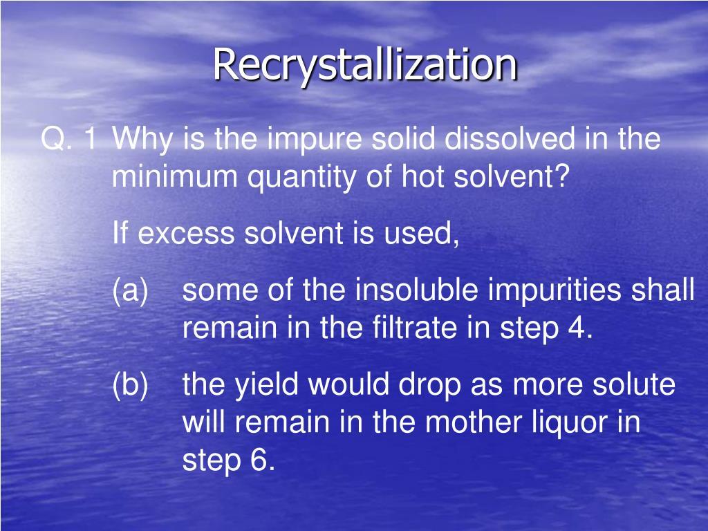 recrystallization l.