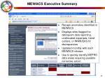 mewacs executive summary