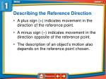 describing the reference direction