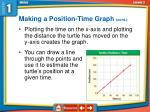 making a position time graph cont