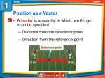 position as a vector