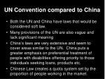un convention compared to china