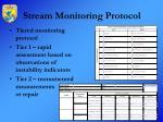 stream monitoring protocol