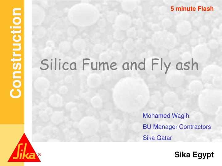 silica fume and fly ash n.