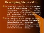 developing steps mis
