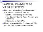 case pcb discovery at the old rainier brewery