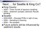 next for seattle king co