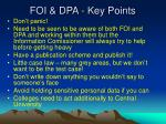 foi dpa key points