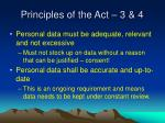 principles of the act 3 4