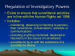 regulation of investigatory powers